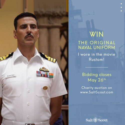 Twinkle Khanna gets susceptible with a 'bloody nose' for placing up Akshay Kumar's Rustom uniform for auction