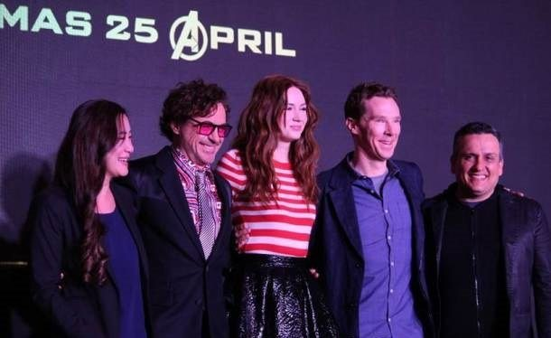Avengers Infinity War Cast in Singapore for the film's premiere